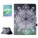 For Tab S2 9.7/T815 Retro Flower Flip Leather Case with Holder, Card Slots & Wallet