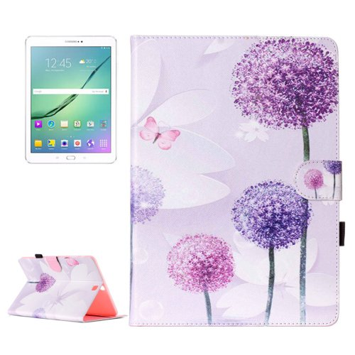 For Tab S2 9.7/T815 Dandelion Flip Leather Case with Holder, Card Slots & Wallet
