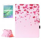 For Tab S2 9.7/T815 Love Flower Flip Leather Case with Holder, Card Slots & Wallet