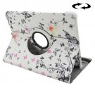For Tab S2 8.0/T715 Butterflies Pattern Leather Case with 360° Rotation Holder