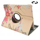For Tab S2 8.0/T715 Peony & Plum Pattern Leather Case with 360° Rotation Holder