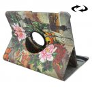 For Tab S2 8.0/T715 Peony Pattern Leather Case with 360° Rotation Holder