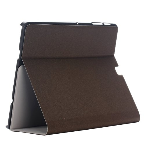 For Tab S2 8.0/T815 Brown Frosted Texture Leather Case with Holder