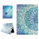 For Tab S2 8.0/T715 Flower PC + PU Leather Case with Holder & Card Slots
