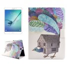 For Tab S2 8.0/T715 Bird House PC + PU Leather Case with Holder & Card Slots
