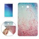 For Tab E 9.6 Red Flower Tree Pattern TPU Protective Case