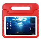 For Tab E 9.6 Red EVA Bumper Protective Case with Handle & Holder