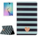 For Galaxy Tab E 9.6 Heart Pattern Flip Leather Case with Holder
