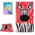 For Galaxy Tab E 9.6 Painting Zebra Pattern Flip Leather Case with Holder
