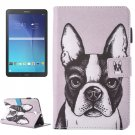 For Galaxy Tab E 9.6 Bulldog Pattern Flip Leather Case with Holder, Card/Pen Slots