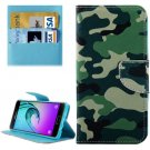 For Galaxy A5(2016) Camouflage Leather Case with Holder, Card Slots & Wallet