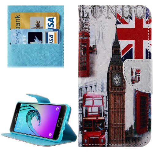 For Galaxy A5(2016) Big Ben Leather Case with Holder, Card Slots & Wallet