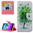For Galaxy A5(2016) Tree Leather Case with Holder, Card Slots & Wallet