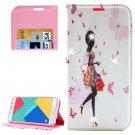 For Galaxy A5(2016) Girl 3 Diamond Leather Case with Holder, Card Slots & Wallet