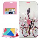 For Galaxy A5(2016) Girl 4 Diamond Leather Case with Holder, Card Slots & Wallet