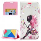 For Galaxy A5(2016) Girl 5 Diamond Leather Case with Holder, Card Slots & Wallet