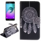 For Galaxy A5(2016) Abstract Pattern Leather Case with Holder, Card Slots & Wallet