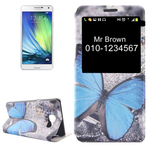 For Galaxy A5(2016) Butterfly Flip Leather Case with Call Display ID & Holder