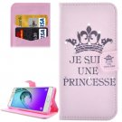 For Galaxy A5(2016) Princess Pattern Leather Case with Holder, Card Slots & Wallet