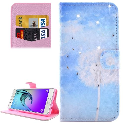 For Galaxy A5(2016) Dandelions Pattern Leather Case with Holder, Card Slots & Wallet