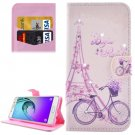 For Galaxy A5(2016) Bicycle Pattern Leather Case with Holder, Card Slots & Wallet
