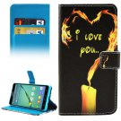 For Galaxy A5(2016) Flame Pattern Leather Case with Holder, Card Slots & Wallet