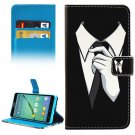 For Galaxy A5(2016) Tie Pattern Leather Case with Holder, Card Slots & Wallet