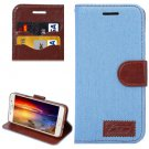 For Galaxy A5(2016) Blue Jeans Horizontal Flip Leather Case with Holder & Card Slots
