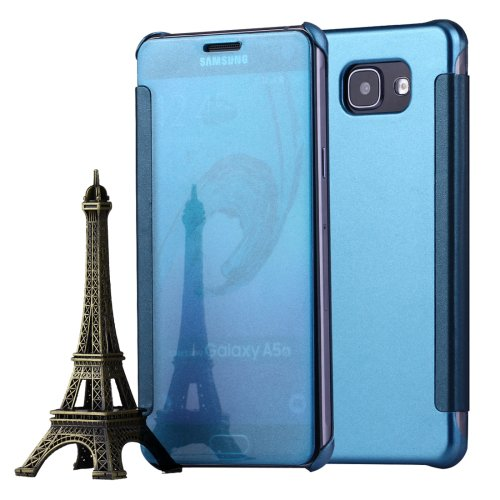 For Galaxy A5(2016) Blue Flip Leather Case with Sleep / Wake-up Function