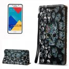For Galaxy A5(2016) Skull 3D Leather Case with Holder, Card Slots & Lanyard