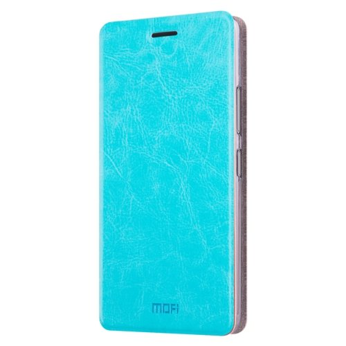 For Galaxy A5(2016) Blue Mofi Crazy Horse Texture Flip Leather Case with Holder
