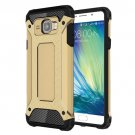 For Galaxy A5(2016) Gold Tough Armor TPU + PC Combination Case