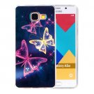 For Galaxy A5(2016) Butterfly Pattern Blu-ray Soft TPU Protective Case