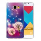 For Galaxy A5(2016) Dandelions Pattern Blu-ray Soft TPU Protective Case