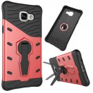 For Galaxy A5(2016) Red Spin Tough Armor TPU+PC Combination Case with Holder
