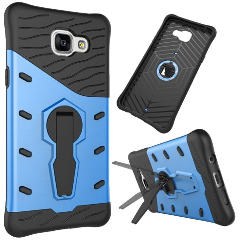 For Galaxy A5(2016) Blue Spin Tough Armor TPU+PC Combination Case with Holder