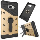 For Galaxy A5(2016) Gold Spin Tough Armor TPU+PC Combination Case with Holder