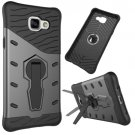 For Galaxy A5(2016) Black Spin Tough Armor TPU+PC Combination Case with Holder