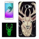 For Galaxy A5(2016) Noctilucent Deer Pattern IMD Soft TPU Back Cover Case