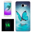 For Galaxy A5(2016) Noctilucent Butterfly Pattern IMD Soft TPU Back Cover Case