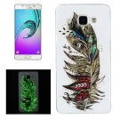 For Galaxy A5(2016) Noctilucent Feather Pattern IMD Soft TPU Back Cover Case