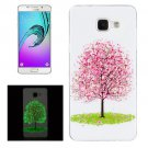 For Galaxy A5(2016) Noctilucent Cherry Tree Pattern IMD Soft TPU Back Cover Case