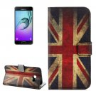 For Galaxy A5(2017) UK Flag Pattern Leather Case with Holder, Card Slots & Wallet