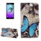 For Galaxy A5(2017) Butterfly Pattern Leather Case with Holder, Card Slots & Wallet