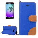 For Galaxy A5(2017) Dark Blue Denim Flip Leather Case with Holder & Card Slots