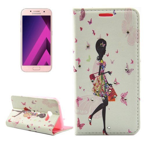 For Galaxy A5(2017) Shopping Girl Leather Case with Holder, Card Slots & Wallet