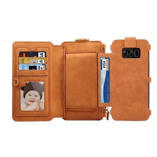 For Galaxy A5(2017) Brown Sheep Bar Material Universal Detachable Back Case