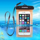 For Galaxy A5 & More HAWEEL Orange Universal Waterproof Bag with Lanyard