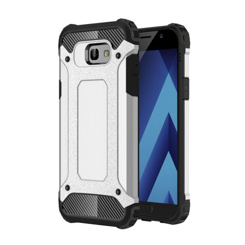 For Galaxy A5(2017) Silver Tough Armor TPU + PC Combination Case