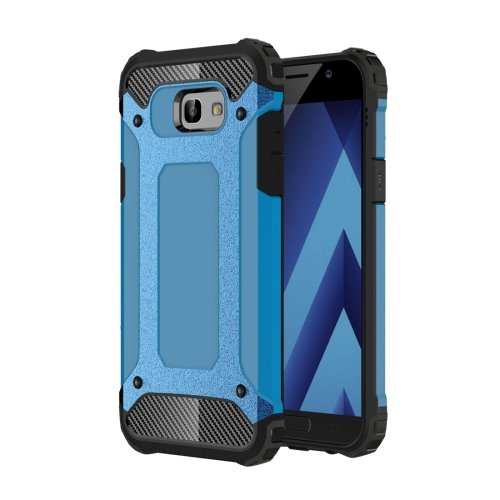 For Galaxy A5(2017) Blue Tough Armor TPU + PC Combination Case